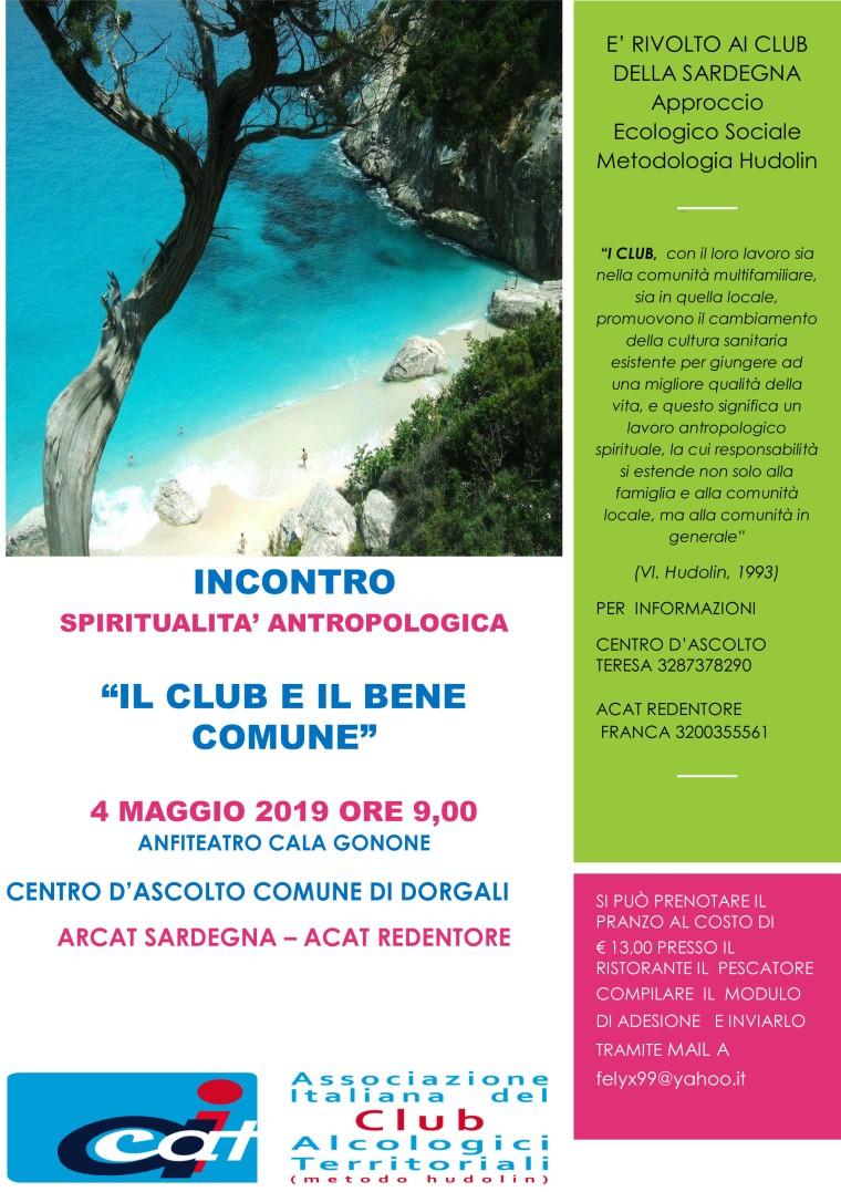 INCONTRO SPIRITUALITA' 4 MAGGIO 2018
