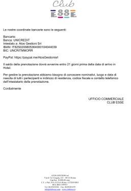 proposta soggiorno Congresso AICAT Cala Gonone 2020-2